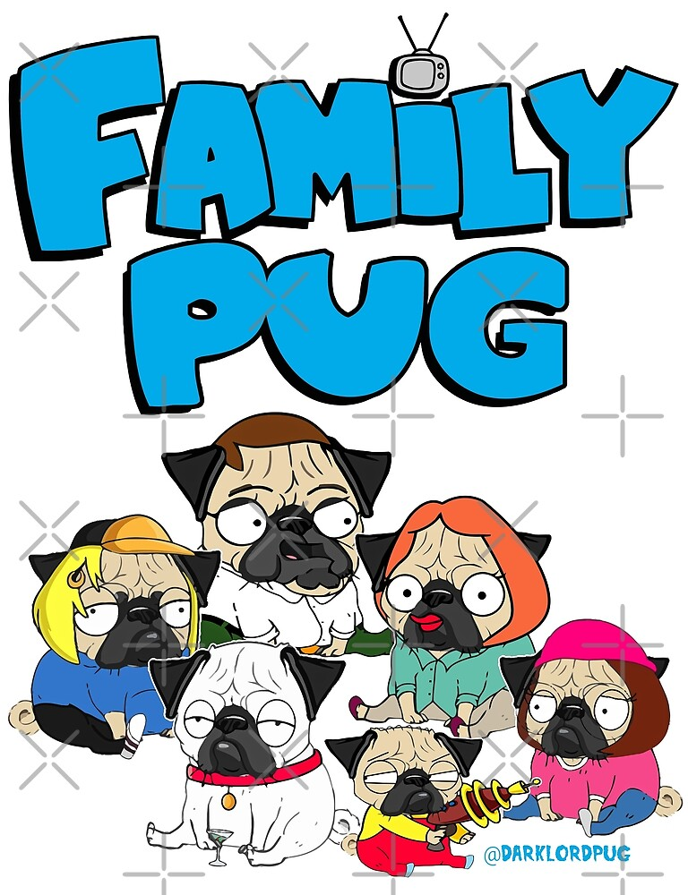 FAMILY PUG by darklordpug