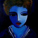 Blue dreams, red lips by nelly  van nieuwenhuijzen