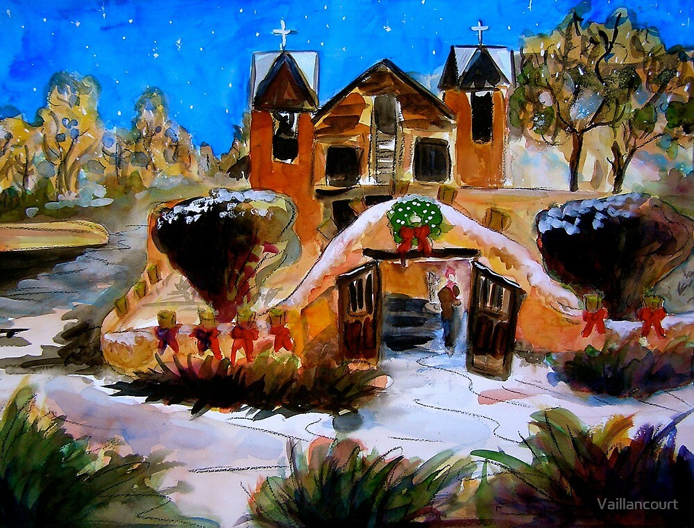Chimayo at Christmas by Vaillancourt