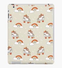 Rollerskates nostalgia pattern print cute 80s rainbows retro style by andrea lauren iPad Case/Skin