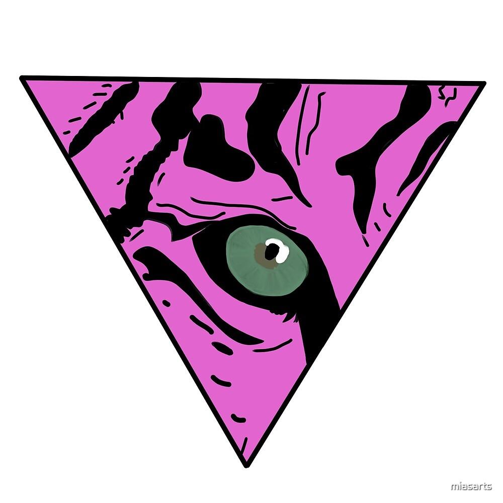 Tigers eye pink by miasarts