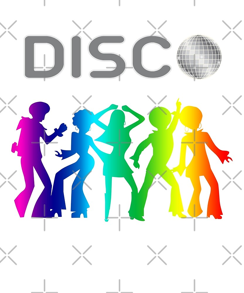 Funny Disco Lover Colorful 70s 80s Pride by JapaneseInkArt