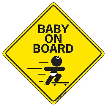 Baby on Board Skateboard by Louies1
