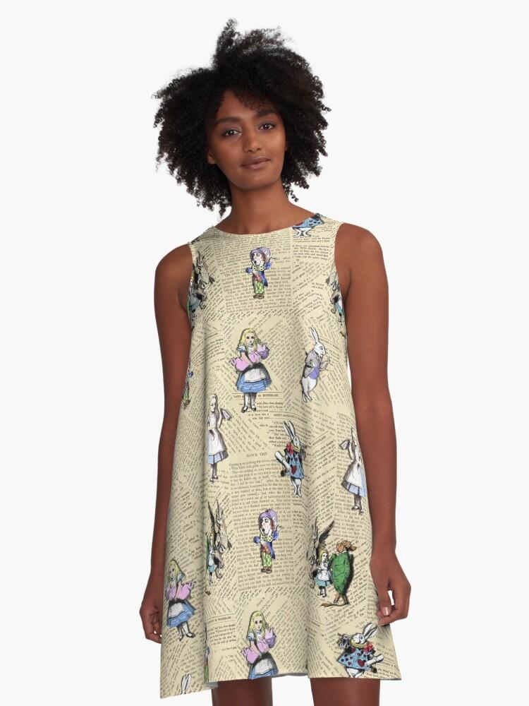 Alice in Wonderland A-Line Dress Front