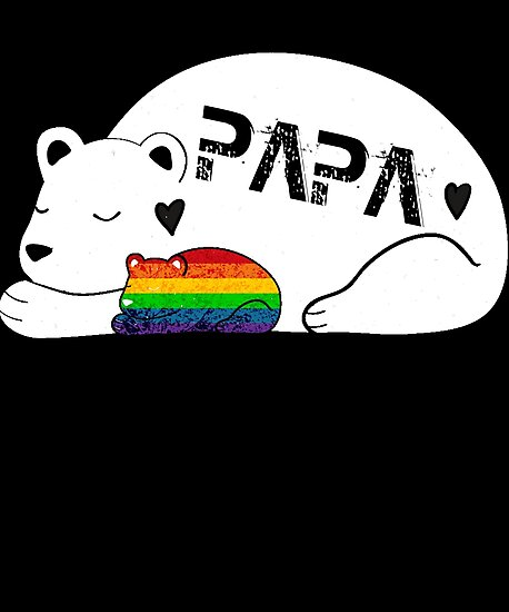 PAPA LGBT Son's T Shirt Gift Father's Day Tee Men by chihai
