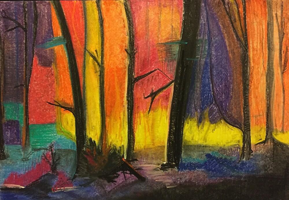 Forest On Fire by KarolinaJS