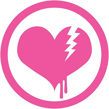 Mighty Moshin' Emo Rangers: Bleeding Heart Pink by AzzyFox