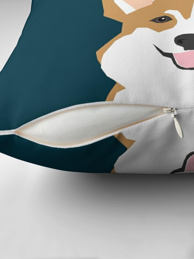 Alternate view of Teagan - Corgi Welsh Corgi gift phone case design for pet lovers and dog people Throw Pillow