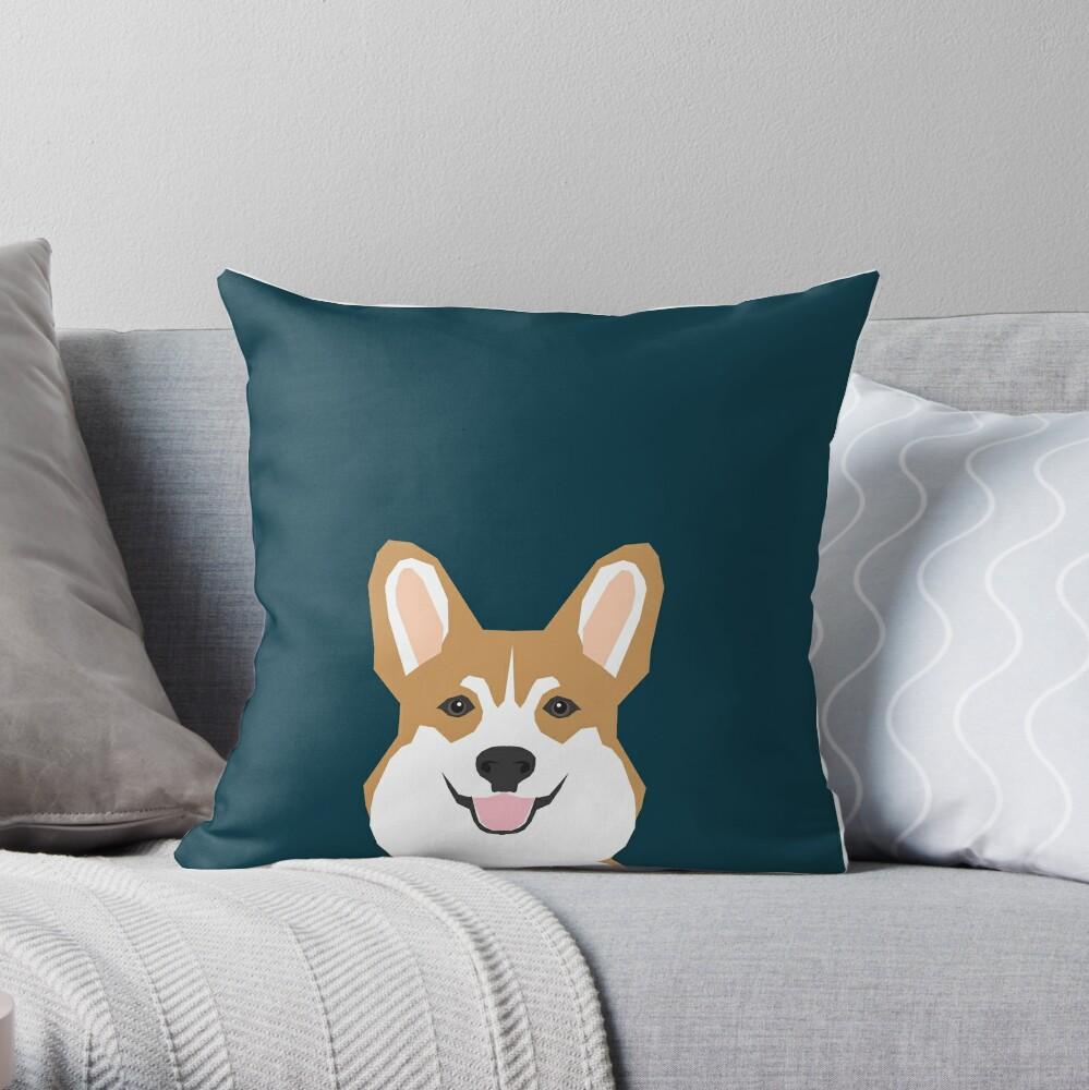 Teagan - Corgi Welsh Corgi gift phone case design for pet lovers and dog people Throw Pillow