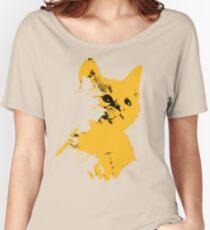 Pop art yellow cat Women's Relaxed Fit T-Shirt