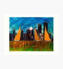 A Chicago Sail  Art Print