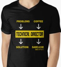 TECHNICAL DIRECTOR PROBLEMS COFFEE Men's V-Neck T-Shirt