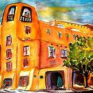 Sunset at The Bell Tower La Fonda Hotel, Santa Fe by Vaillancourt