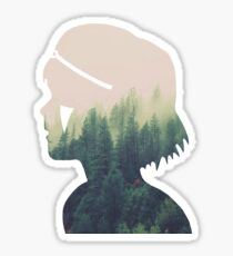 Princess Mononoke Silhouette Sticker
