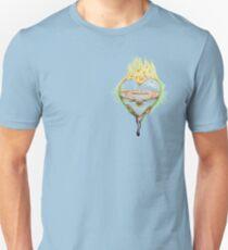 FLAMING HEART>>>love Unisex T-Shirt