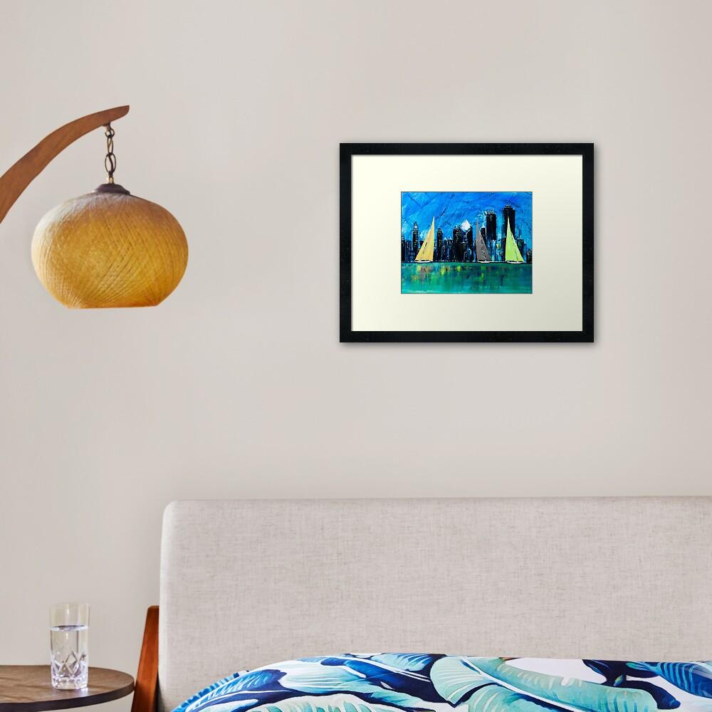 A Chicago Sail Framed Art Print