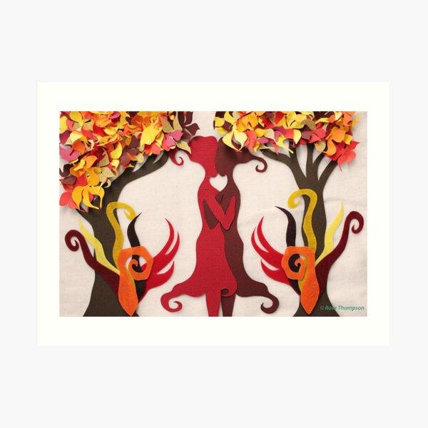 Autumn kiss #2 Art Print