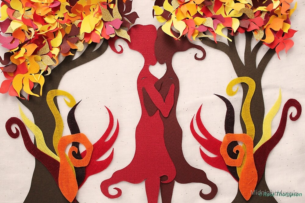 Autumn kiss #2 by MidnightMagpie