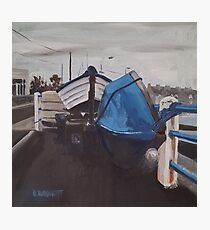 Dull Day, Harbour Road, Skerries Photographic Print
