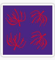 Red underwater Handdrawn Corals Red Sticker