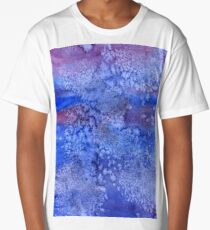abstract blue background vintage grunge background texture Long T-Shirt