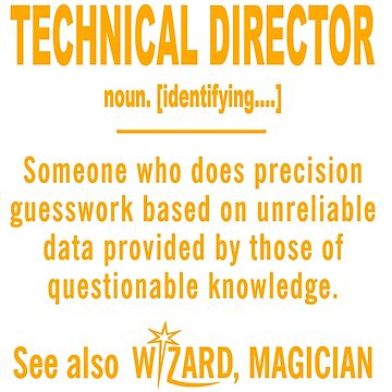 TECHNICAL DIRECTOR DEFINITION by millerose