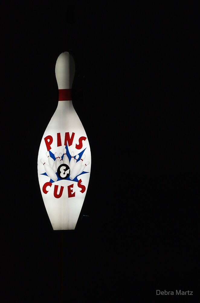 Pins And Cues by Debra Martz