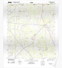 USGS TOPO Map Florida FL Campbellton 20120808 TM Poster