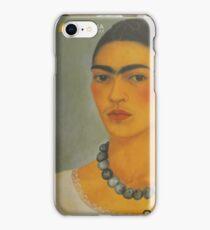 Per la mia amica Madalena Lobao......autoritratto con collana 1933 di Frida Kahlo- iPhone Case/Skin