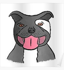 Pit Bull Puppy Poster