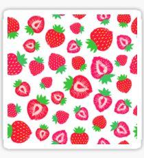 Strawberry Background Painted Pattern Sticker