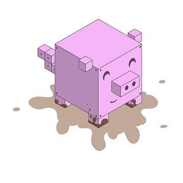Cubism - Piggy by pixledust