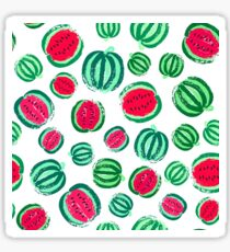 Watermelon Background Painted Pattern Sticker