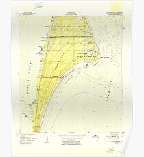 USGS TOPO Map Florida FL Cape Canaveral 345391 1951 24000 Poster