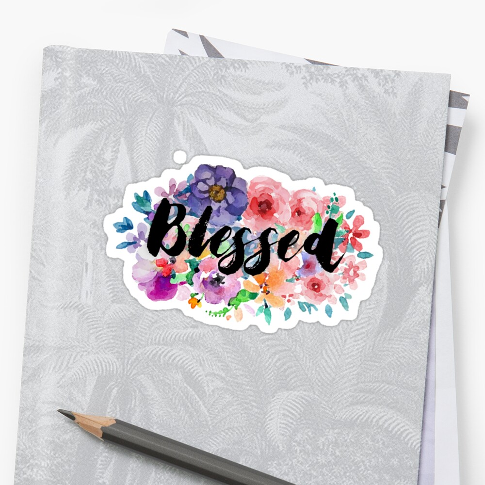 Watercolor floral blessed by ReVivingHoPe