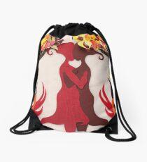 Autumn kiss #2 Drawstring Bag