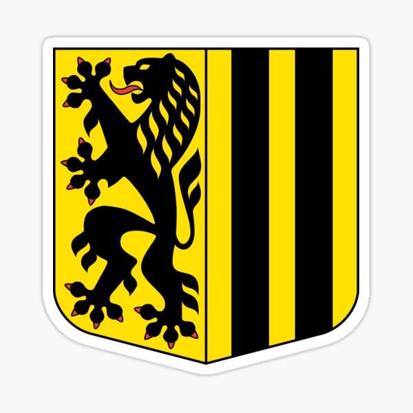Dresden coat of arms, Germany Sticker