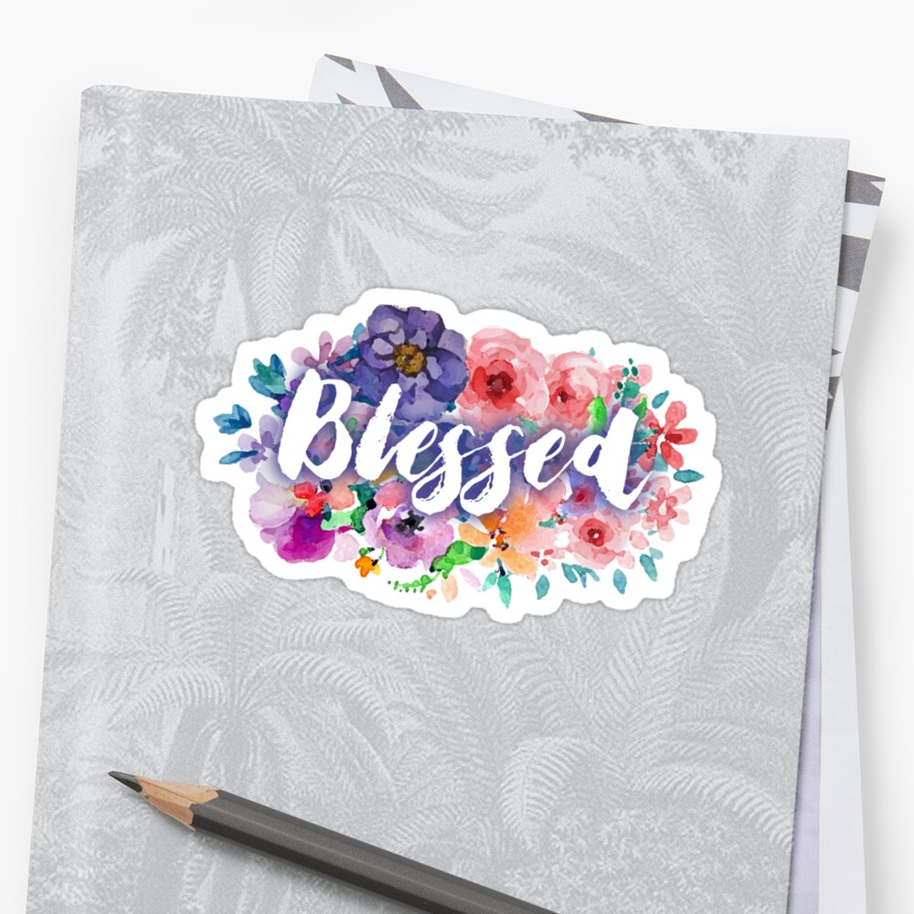 Blessed white floral by ReVivingHoPe