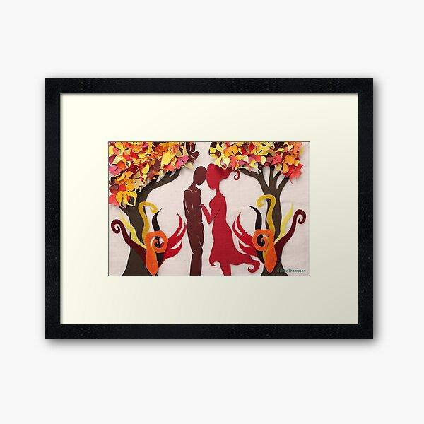 Autumn kiss #3 Framed Art Print