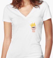 Sasha Velour Women's Fitted V-Neck T-Shirt