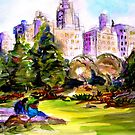 Afternoon in Central Park by Vaillancourt