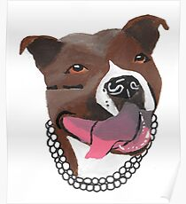 Pearl the Pit Bull Poster
