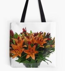Orange flower bouquet On white background  Tote Bag