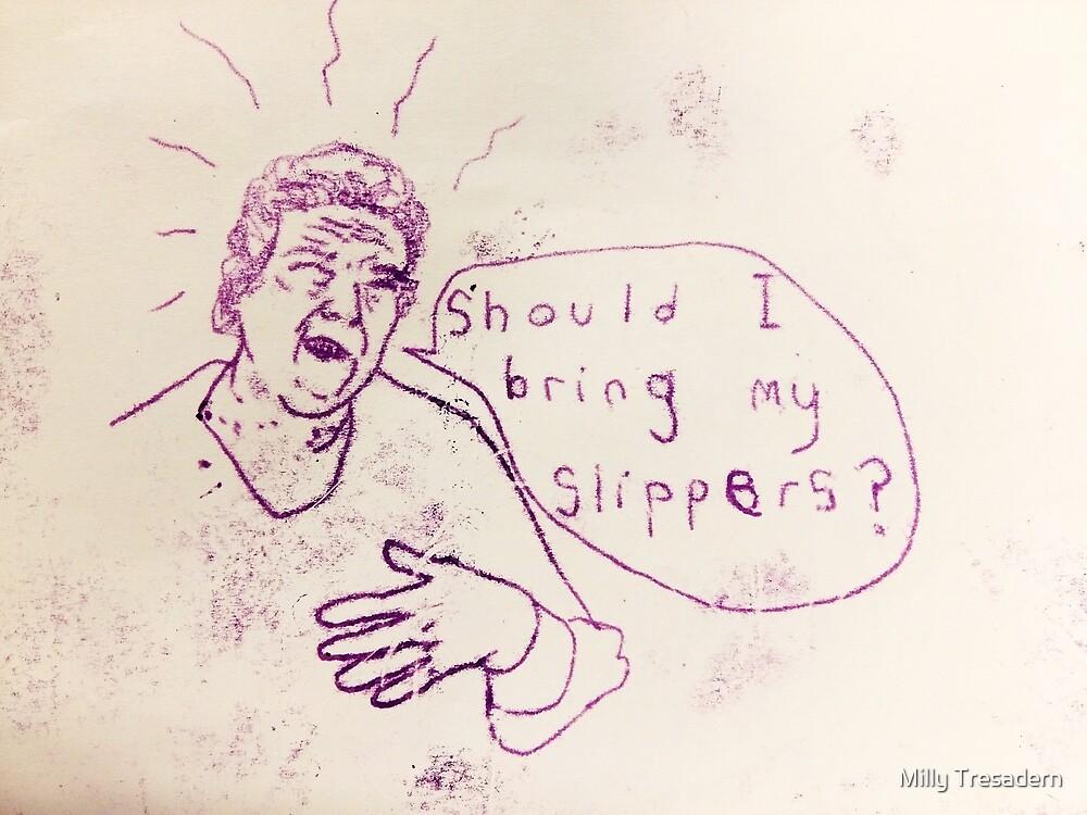 NANA SLIPPERS MONOPRINT by Milly Tresadern