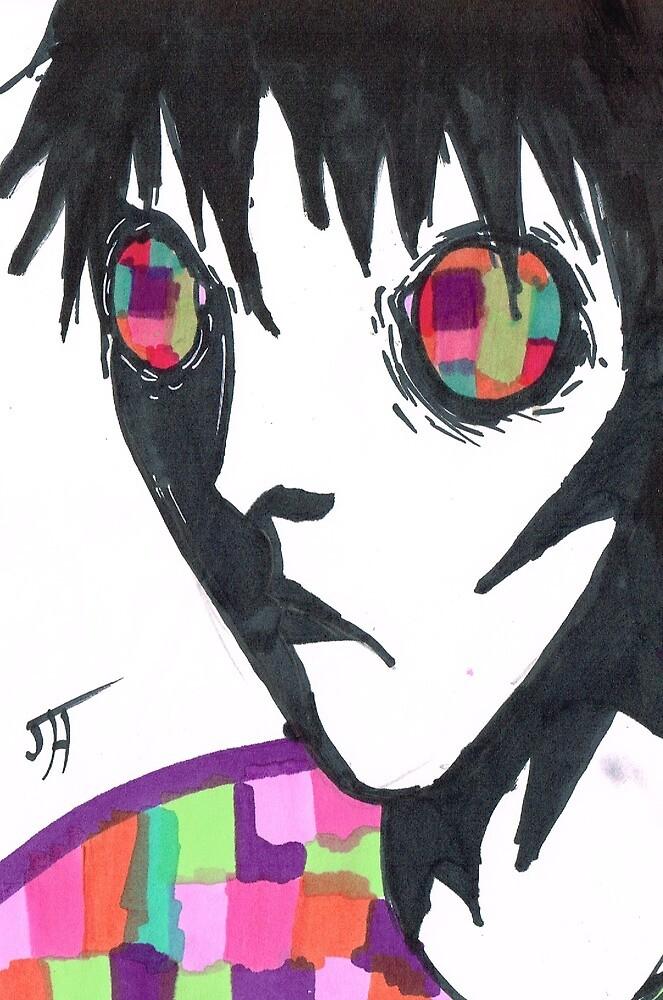 Trippy manga art inspired character. by LolJeeb
