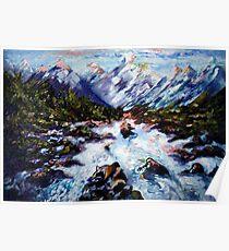 Snowy Mountains - Harsh Malik  Poster