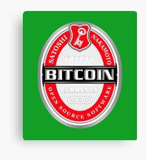 Bitcoin Beers Canvas Print