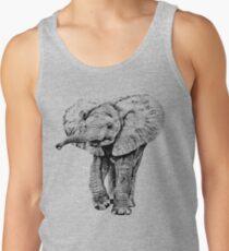 Irresistible Baby Elephant | African Wildlife Tank Top