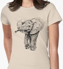 Irresistible Baby Elephant | African Wildlife Women's Fitted T-Shirt