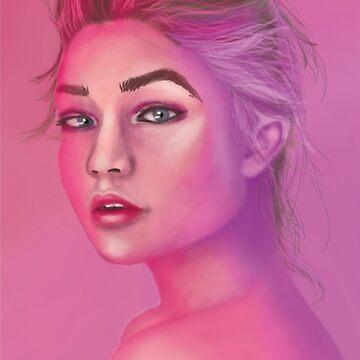Gigi Hadid Portrait  by abflab